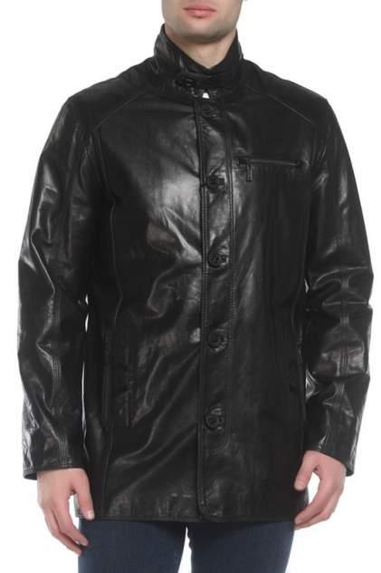 Кожаная куртка мужская MARKO ROSSINI 10-034 черная 50 EU