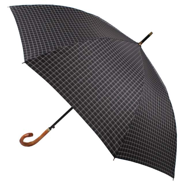 Зонт-трость мужской полуавтоматический Flioraj 23242 FJ черный