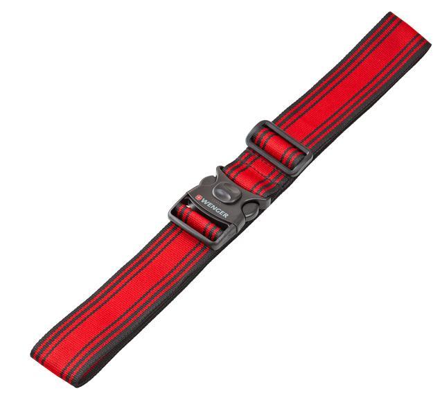 Ремень багажный WENGER 604597 черный/красный