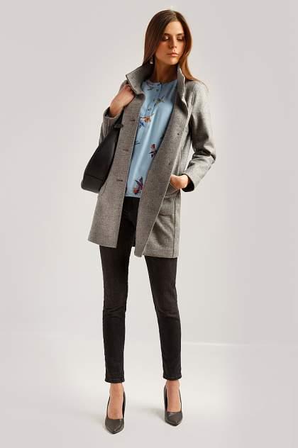 Пальто женское Finn Flare B19-12004 серое XL