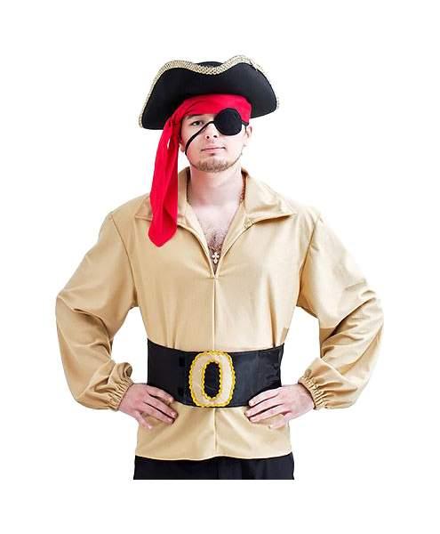Карнавальный костюм Бока Пират, цв. черный; бежевый р.180