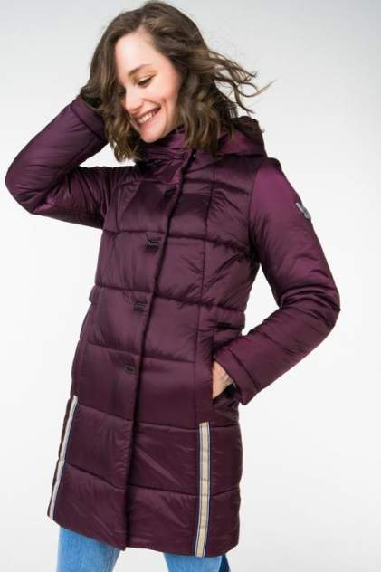 Пуховик-пальто женский ElectraStyle 3У-6031/3-258 бордовый 48 RU