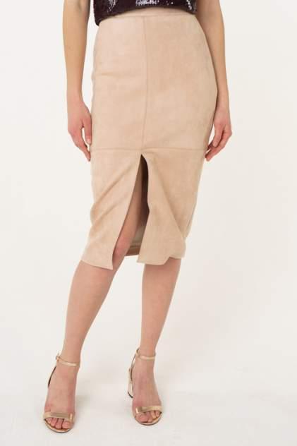 Юбка женская T-Skirt SS17-02-0290-FS бежевая 42 RU