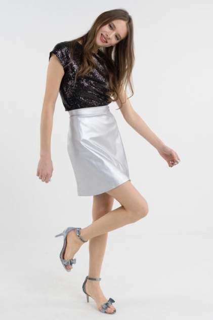 Юбка женская T-Skirt SS17-01-0333-FS серебристая 42 RU