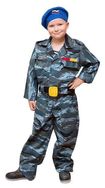 Карнавальный костюм Бока Военный, цв. синий р.122