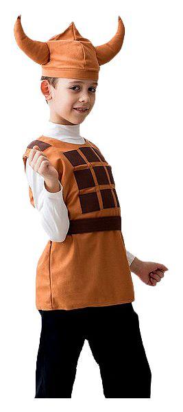 Карнавальный костюм Бока Викинг, цв. коричневый р.122