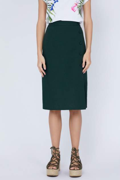 Юбка женская ZARINA 9225210202 зеленая 42 RU