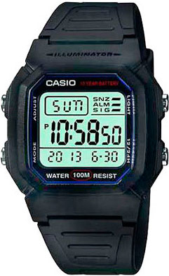 Наручные часы электронные мужские Casio Collection W-800H-1A