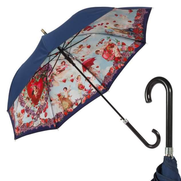 Зонт-трость женский полуавтоматический MOSCHINO M/7280-D63AUTOA/Multi синий