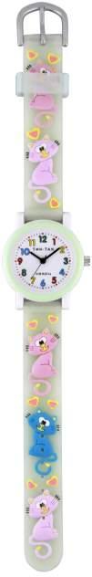 Детские наручные часы Тик-Так Н104-2 зеленые коты
