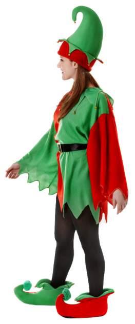 Карнавальный костюм Bristol Эльф, цв. зеленый; красный р.170