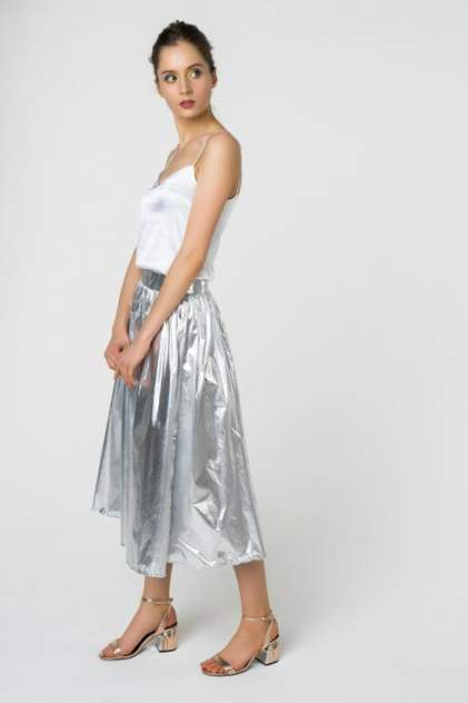 Юбка женская Fashion Confession 5441 серебристая 42 RU