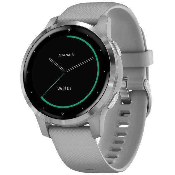 Спортивные наручные часы Garmin Vivoactive 4S Powder Gray/Silver
