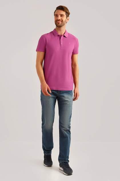 Футболка-поло мужская Finn Flare B19-21042 розовая 3XL