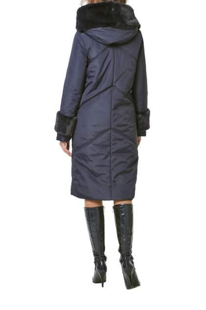 Пуховик-пальто женский DizzyWay 19307 синий 46 RU