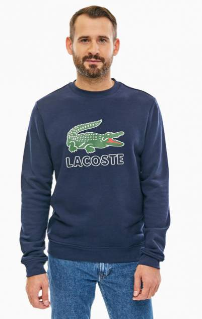Свитшот мужской Lacoste синий 56