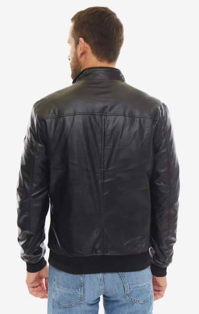 Куртка кожаная мужская Guess M93L04-WBS20-JBLK черная S