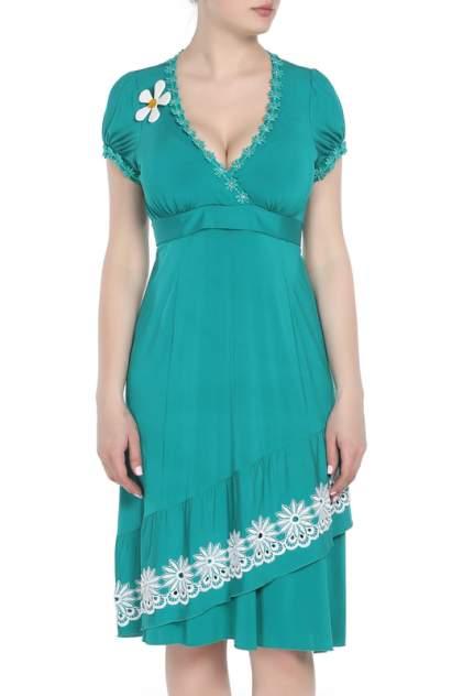 Платье женское Maria Grazia Severi 6414R006 зеленое 46 IT
