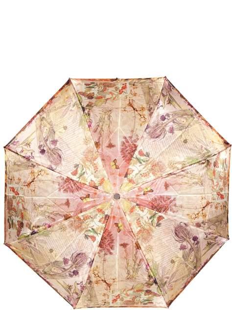 Зонт складной женский автоматический Eleganzza 01-00026766 бежевый/разноцветный