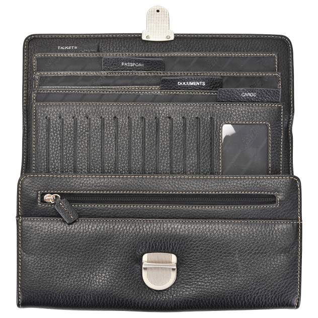 Клатч мужской кожаный Dr. Koffer X515204-01-04 черный