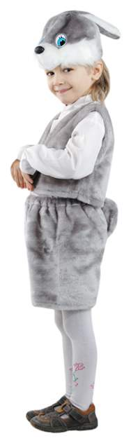Карнавальный костюм Батик Заяц, цв. серый р.110