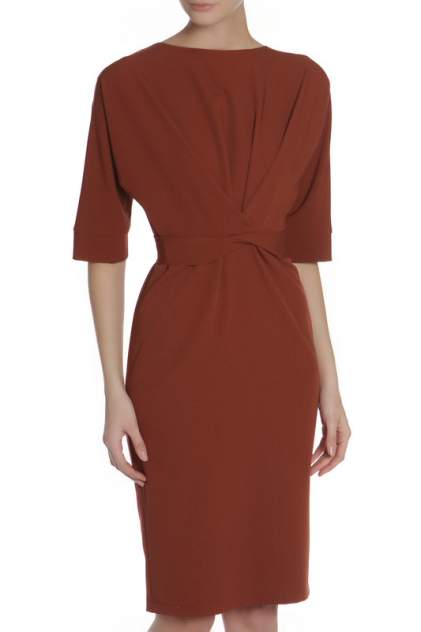 Платье женское Adzhedo 41397 коричневое 3XL
