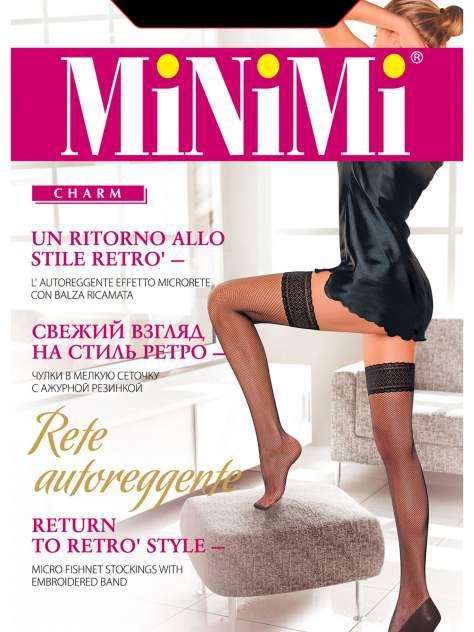 Чулки женские MiNiMi RETE черные 3-4
