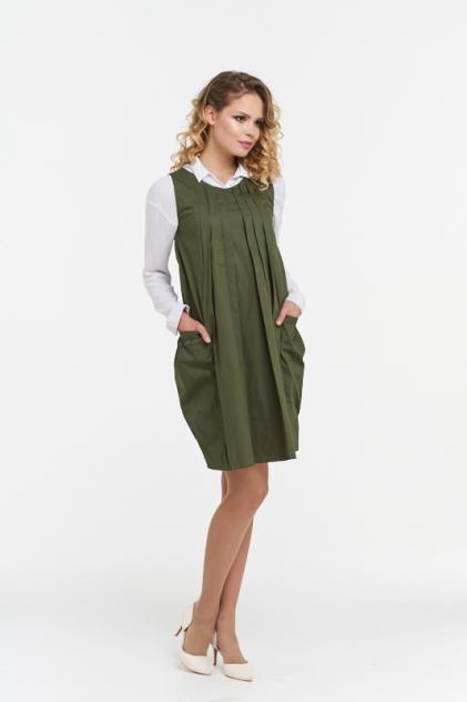 Платье женское VAY 182-3449 зеленое 42 RU