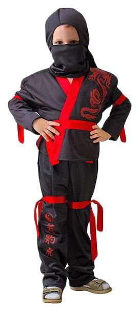 Карнавальный костюм Бока Ниндзя, цв. черный р.122