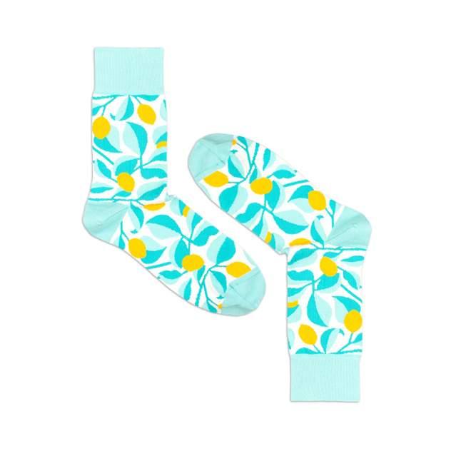 Носки унисекс Burning heels Лимоны голубые 39-41
