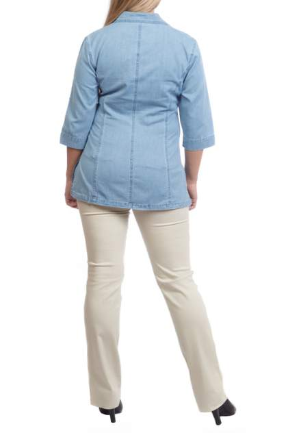 Блуза женская LAFEI-NIER TH261T-J голубая 4XL