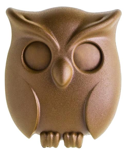 Держатель для ключей Qualy Night Owl коричневый