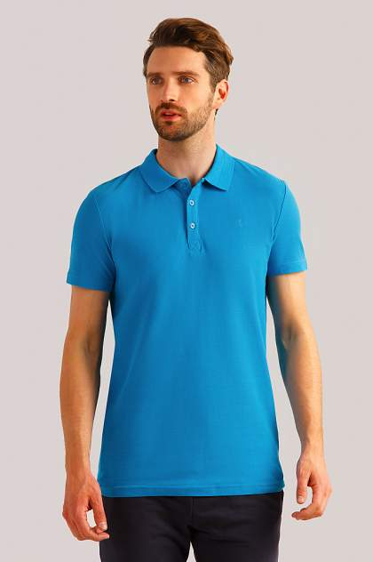 Футболка-поло мужская Finn Flare B19-21042 голубая 3XL