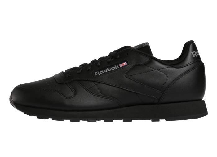 Кроссовки Reebok Classic Leather, black/int-black, 11.5 US