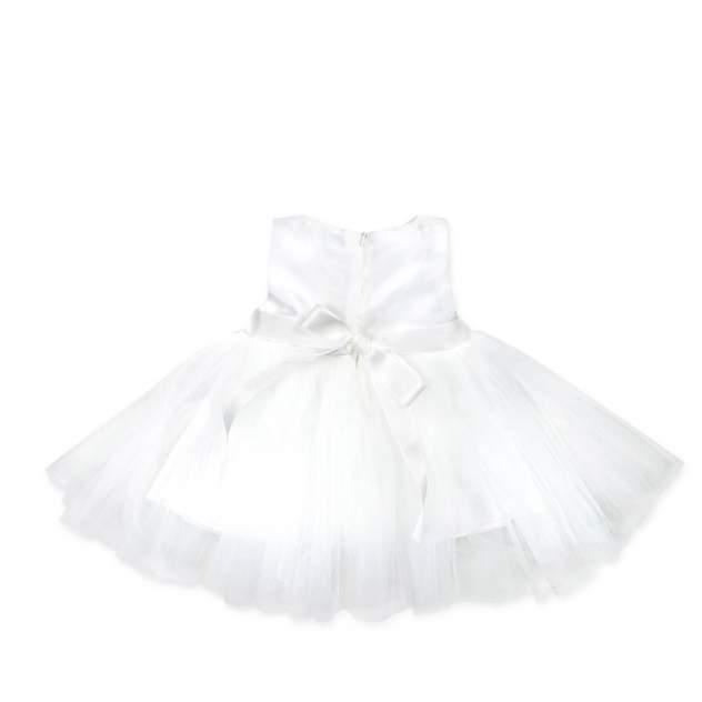 Праздничный набор: платье, пинетки и повязка на голову RBC МЛ 365325 кремовый р.56