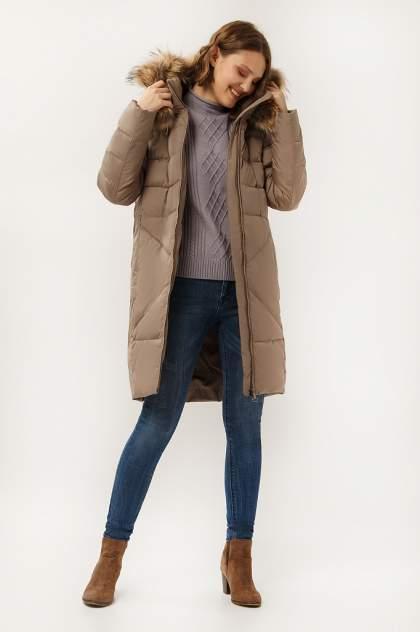 Пальто женское Finn Flare A19-12028 коричневое S
