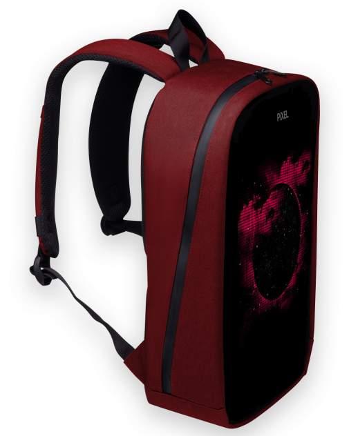 Рюкзак с LED-дисплеем PIXEL MAX - RED LINE бордовый