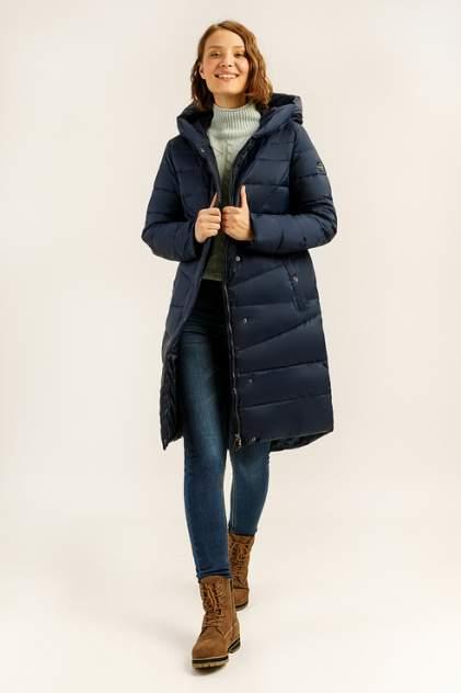 Пуховик-пальто женский Finn Flare A19-12038 синий L