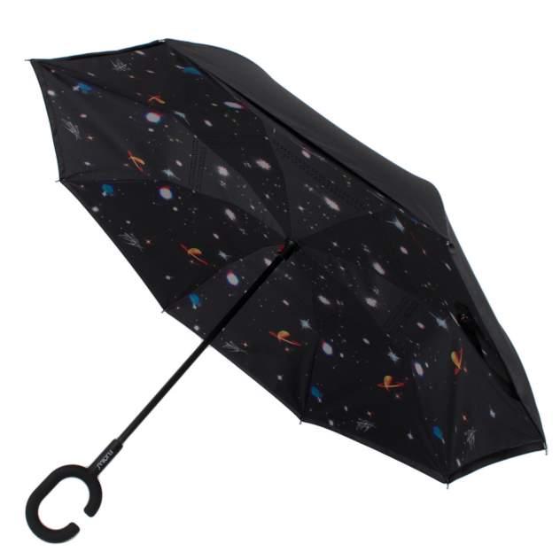 Зонт обратный женский механический Flioraj 120011 FJ черный