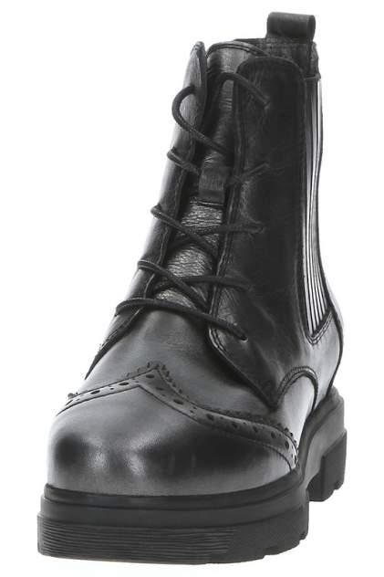 Ботинки женские NURIA 9696-2, серебристый, черный