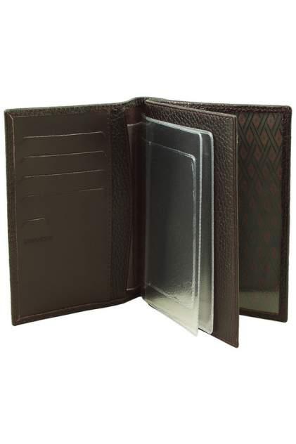 Обложка для паспорта мужская Dimanche 191 коричневая