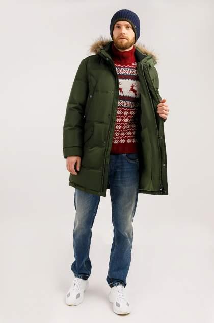 Пуховик мужской Finn Flare W19-21004 зеленый XL