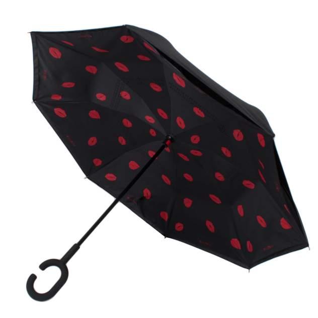 Зонт обратный женский механический Flioraj 120012 FJ черный