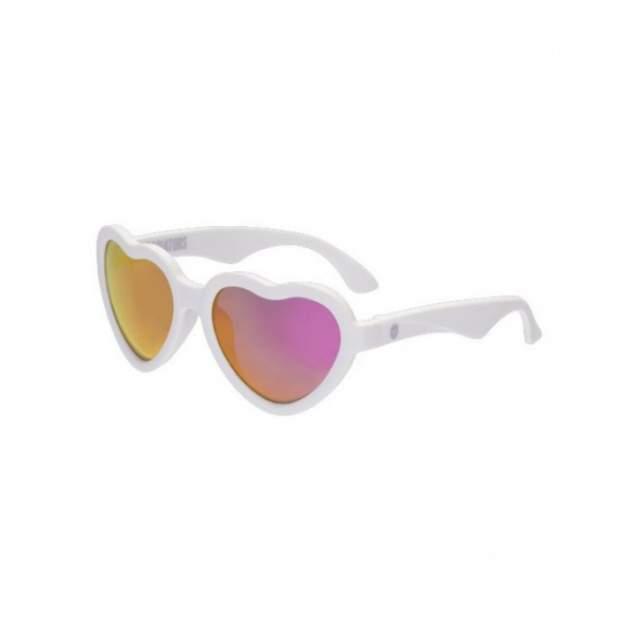 Солнцезащитные очки Babiators Hearts Sweethearts Белые, Розовые зеркальные 3-5 лет