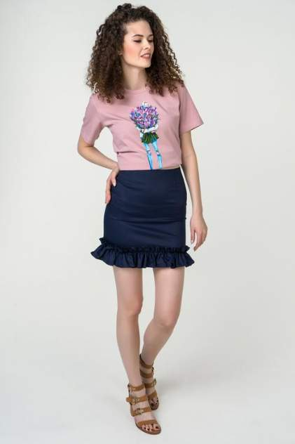 Юбка женская Fashion.Love.Story. 18SP6032 синяя 40 RU