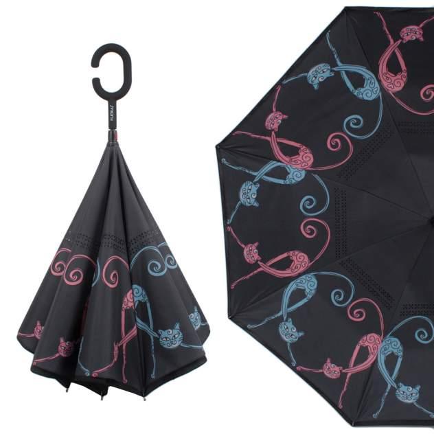 Зонт обратный женский механический Flioraj 120013 FJ черный
