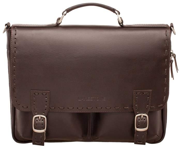 Портфель кожаный Lakestone 943058/BR коричневый