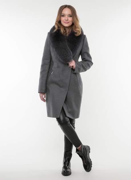Пальто женское idekka д-817 серое 42 RU