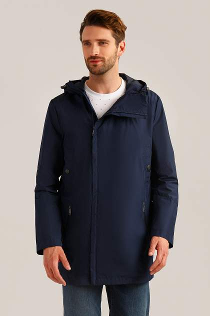Куртка мужская Finn Flare B19-42002 синяя 2XL