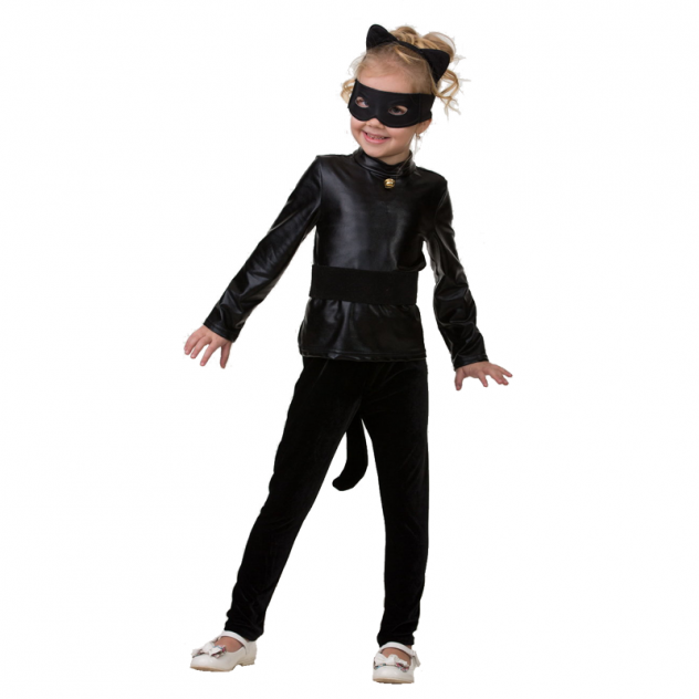 Карнавальный костюм Батик Супер Кот; Леди Баг, цв. черный р.134